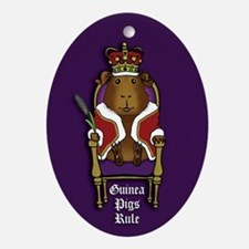 Guinea Pigs Rule Oval Ornament