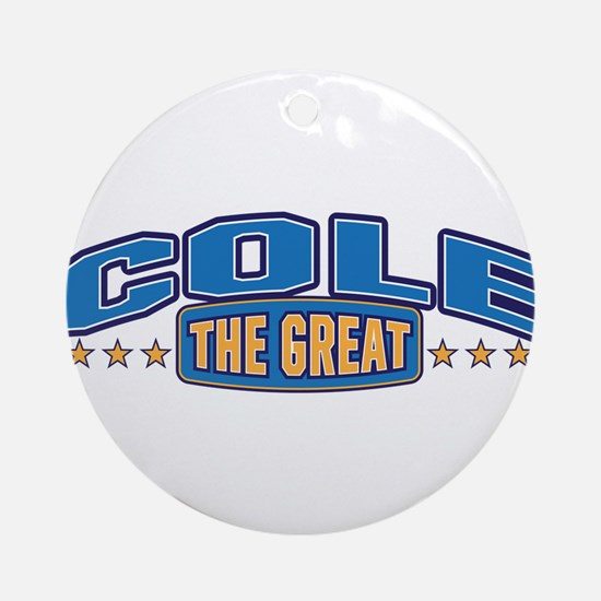 The Great Cole Ornament (Round)