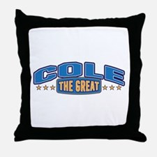 The Great Cole Throw Pillow