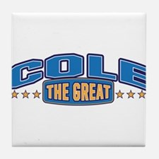 The Great Cole Tile Coaster
