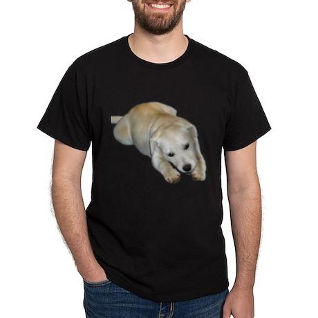 white pup Dark T-Shirt