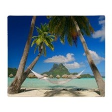 Tropical Paradise Beach Throw Blanket