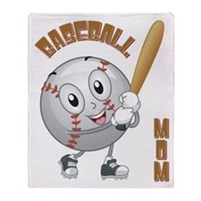 BASEBALL MOM Throw Blanket