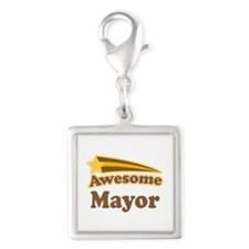 Awesome Mayor Silver Square Charm
