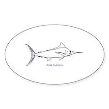 Blue Marlin Logo (line art) Decal