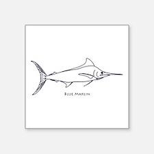 Blue Marlin Logo (line art) Sticker