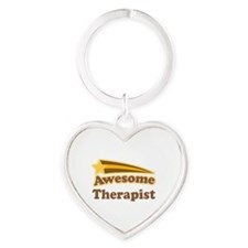 Awesome Therapist Heart Keychain