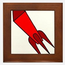 Red Rocket Framed Tile