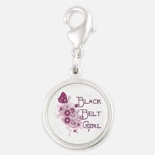 Martial Arts Butterfly Black Belt Girl Charms