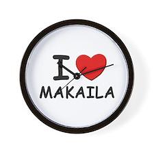 I love Makaila Wall Clock