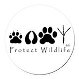 Animals and wildlife Round Car Magnets