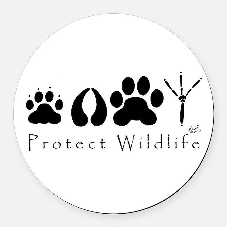 Cute Wildlife Round Car Magnet