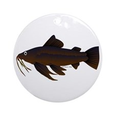 Armored Catfish fish Ornament (Round)