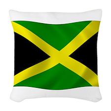 Jamaica Flag Woven Throw Pillow
