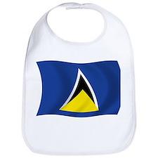 Saint Lucia Flag Bib
