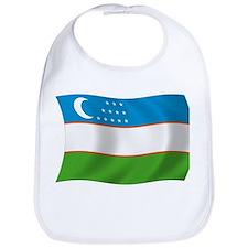 Uzbekistan Flag Bib