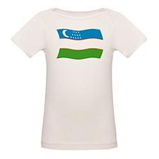 Uzbekistan Flag 2 Tee