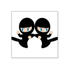 "Ninja Square Sticker 3"" x 3"""