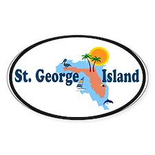 St. George Island - Map Design. Decal