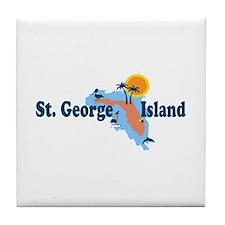 St. George Island - Map Design. Tile Coaster