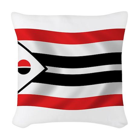 Arapaho Tribe Flag Woven Throw Pillow