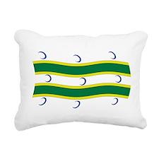 Turkmen Flag Rectangular Canvas Pillow