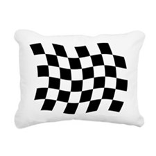 Checkered Flag Rectangular Canvas Pillow