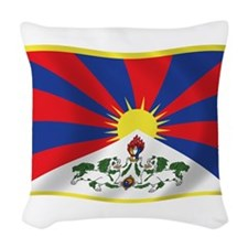 Tibet Flag Woven Throw Pillow