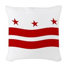 Washington DC Flag 2 Woven Throw Pillow