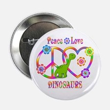 "Peace Love Dinosaurs 2.25"" Button (10 pack)"