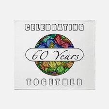 60th Anniversary (Butterflies) Throw Blanket