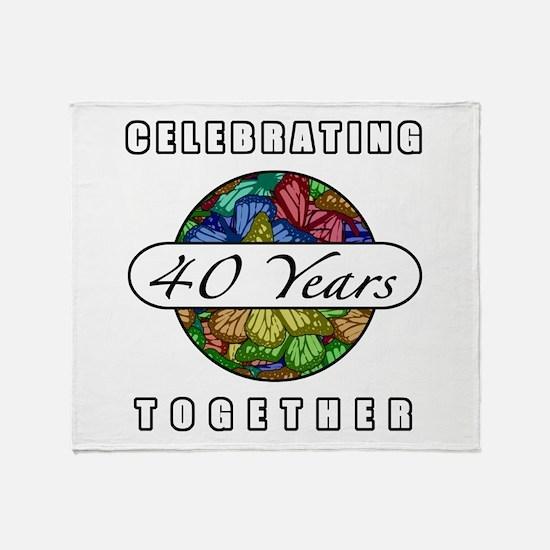40th Anniversary (Butterflies) Throw Blanket