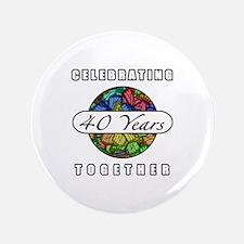 """40th Anniversary (Butterflies) 3.5"""" Button"""