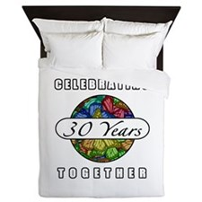 30th Anniversary (Butterflies) Queen Duvet