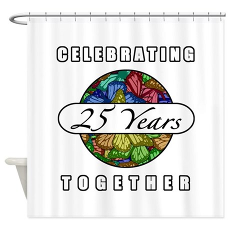 25th Anniversary (Butterflies) Shower Curtain