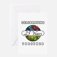 25th Anniversary (Butterflies) Greeting Card