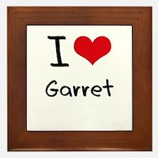 I Love Garret Framed Tile