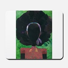 Girl with the Big Afro Mousepad