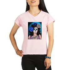 Blue Rose Muertos Pin-up Portrait Peformance Dry T