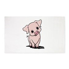 Curious Piggy 3'x5' Area Rug