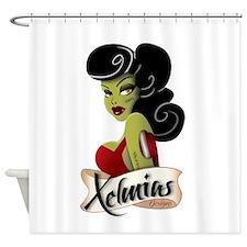 Xelmias Designs (Zombie Bombshell) Shower Curtain