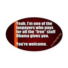 Youre Welcome Oval Car Magnet