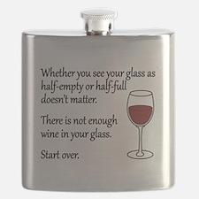 Glass Half Full Flask