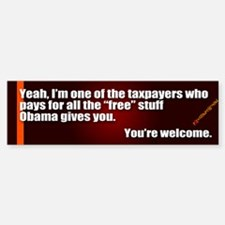 Youre Welcome Bumper Bumper Bumper Sticker