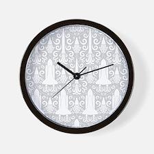 Rocket Science Damask Wall Clock