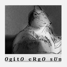 COGITO ERGO SUM Tile Coaster