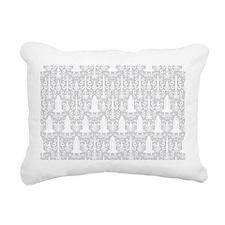Rocket Science Damask Rectangular Canvas Pillow