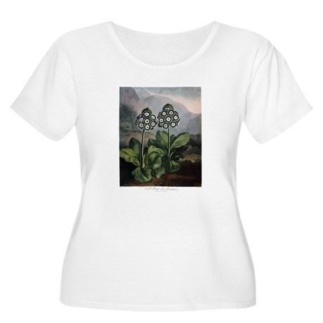 Auricula, The Temple of Flora Plus Size T-Shirt