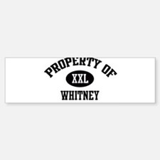 Property of Whitney Bumper Car Car Sticker