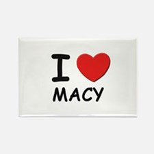 I love Macy Rectangle Magnet